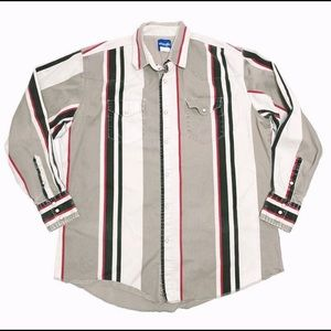 Vintage Wrangler Pearl Snap Shirt Stripe